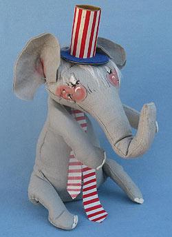 "Annalee 16"" Patriotic Elephant - Near Mint - D48-68x"