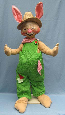"Annalee 48"" Country Boy Bunny Museum - Mint / Near Mint - D72-82"