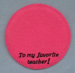 """Annalee 4"""" To My Favorite Teacher Pink Personalized Base - Mint  - Favteachpk"""