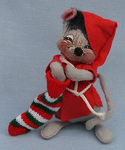 """Annalee 7"""" Mouse with Stocking - Near Mint - 771490sq"""