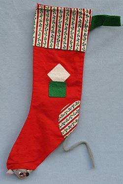 "Annalee 22"" Christmas Stocking - 1980 - Very Good - R130-80oxa"