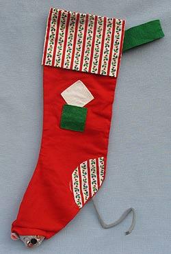"Annalee 22"" Christmas Stocking - 1980 - Mint - R130-80sqxt"