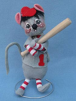 "Annalee 7"" Baseball Mouse #1 - Mint - R400-83"
