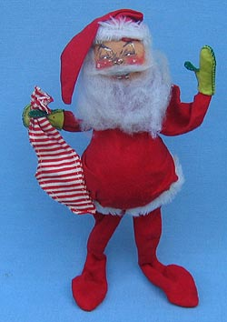 "Annalee 12"" Santa with Stocking - Excellent - S12-62"