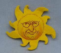 """Annalee 3"""" Sununu Sunshine Pin - Mint - Sununu"""