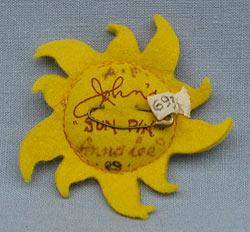 "Annalee 3"" Sununu Sunshine Pin - Signed Artist Proof - Mint - SununuAPRear"