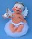 "Annalee 7"" Wings of Hope Baby Angel Holding Dove - Mint - 711402"
