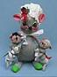 """Annalee 12"""" Mother & 7 Baby Mice - Mint - C185-75"""