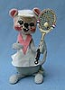 "Annalee 7"" Tennis Girl Mouse - Excellent - G424-80a"