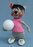 "Annalee 7"" Volleyball Girl Mouse - Mint - R404-80"