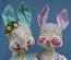 """Annalee 29"""" E.P. Boy & Girl Bunny - Very Good - 1973 - S63-S62-73a"""