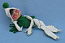 """Annalee 10"""" White Jack Frost Elf with Green Scarf - Mint - C230-77grxx1"""