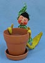 "Annalee 10"" Elf with Planter - Mint - A370-78xyell"