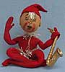 """Annalee 10"""" Red Elf with Tinsel and Saxophone - Mint - E22-55rsyeah"""
