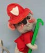 "Annalee 7"" Fireman Mouse - Near Mint - M110-70w"