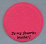 "Annalee 4"" To My Favorite Teacher Pink Personalized Base - Mint  - Favteachpk"