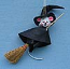 "Annalee 3"" Witch Mouse in Gift Bag Ornament - Mint - 300404"