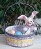 "Annalee 8"" Easter Basket Bunny - Mint - 064903"