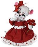 "Annalee 8"" Valentine Roses Mouse 2020 - Mint - 111020"
