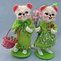 "Annalee 6"" Spring Boy & Girl Mice - Near Mint - 201609-201709"