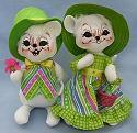 "Annalee10"" Sunday Best Boy & Girl Mice - Mint - 202909-202809"