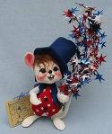 "Annalee 7"" Star Spangled Mouse - Near Mint - 203197a"