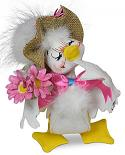 "Annalee 6"" Spring Bouquet Duck 2020 - Mint - 211220"
