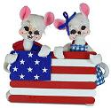 "Annalee 5"" Stars and Stripes Mice with Flag 2021 - Mint - 260521"