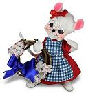 "Annalee 6"" Patriotic Girl Mouse with Wreath 2021 - Mint - 260721"