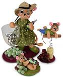 Annalee Set of Three Wine Mice -  2020 - Mint - 2609-2610-261120