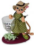 "Annalee 6"" Wine a Little Girl Mouse 2020 - Mint - 261120"