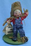 "Annalee 7"" Scarecrow Kid - Very Good - 305892b"