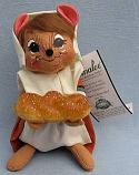 "Annalee 6"" Pilgrim Girl Mouse with Bread - Mint - 307606a"