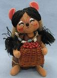 "Annalee 6"" Indian Girl Mouse - Near Mint - 308506sq"
