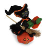 "Annalee 6"" Witch Kitty on Pumpkin 2018 - Mint - 310918"