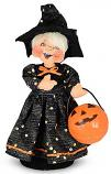 """Annalee 7"""" Trick or Treat Witch Kid with Pumpkin 2021 - Mint - 311321"""