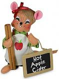 "Annalee 6"" Hot Apple Cider Girl Mouse with Sign 2020 - Mint - 360920"