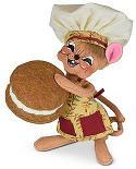 "Annalee 6"" Pumpkin Whoopie Pie Chef Mouse 2021 - Mint - 360921"