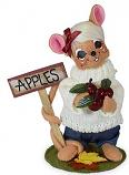 """Annalee 6"""" Apple Orchard Girl Mouse 2021 - Mint - 361221"""