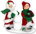 "Annalee 6"" Santa & Mrs Build a Snowman 2021* - Mint - 410021"