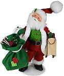 "Annalee 9"" Very Merry Santa 2020 - Mint - 410220"