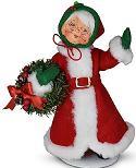 """Annalee 9"""" Holiday Cheer Mrs Santa 2021 - Mint - 410521"""