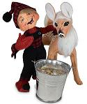 """Annalee 5"""" Winter Woods Elf with Fawn 2021 - Mint - 510021"""