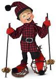 "Annalee 9"" Winter Woods Snowshoe Elf 2021 - Mint - 510521"