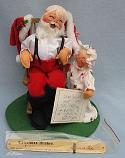 "Annalee 10"" Santa in Rocking Chair and Child - Near Mint - 540089xa"