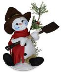 "Annalee 9"" Rustic Pine Snowman 2020 - Mint - 560320"