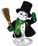 """Annalee 5"""" Evergreen Snowman 2021 - Mint - 560321"""