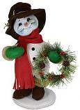"Annalee 15"" Rustic Pine Snowman 2020 - Mint - 560520"