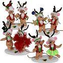"""Annalee 3"""" Santa's Reindeer Team 2020 - Mint - 610020"""