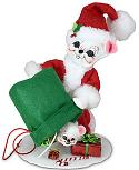 """Annalee 6"""" Special Delivery Santa Mouse 2021 - Mint - 610621"""